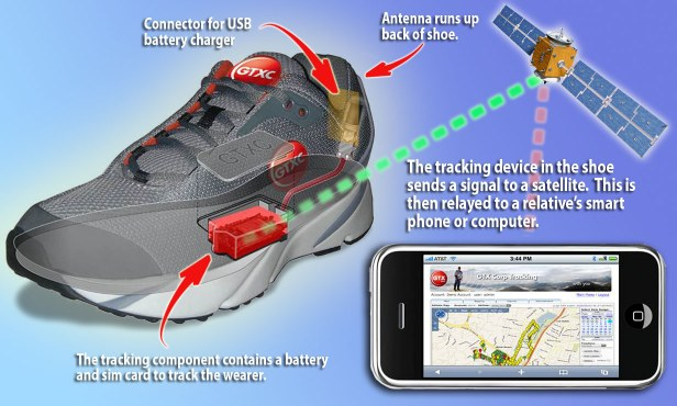 GPS shoes for Alzheimer's patients